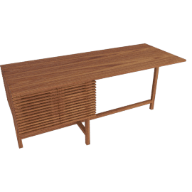 Line Storage Desk, Walnut