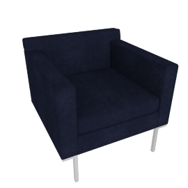 Theatre Armchair, Lama Tweed Fabric, Indigo
