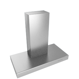 Professional JLBIHD105 Chimney Cooker Hood, Stainless Steel