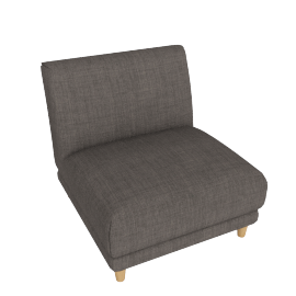 Lauren 1-Seater Armless Sofa