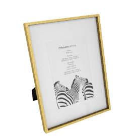 Gloria Photo Frame Matted - 6x8 inches, Gold
