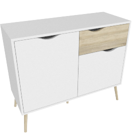 DELTA SIDEBOARD 2 DOORS + 1 DRAWER by tvilum