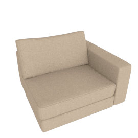 Reid One-Arm Chair Right, Lama Tweed - Oatmeal