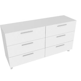 Next 6Drwr Dresser-Hg Wht/Hg Pearl Grey