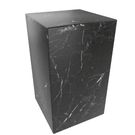 Plinth Tall Side Table, Nero Marquina