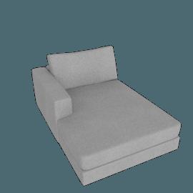 Reid Chaise Left, Ducale Wool - Light Grey