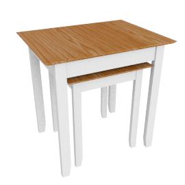 Alba Nest Of 2 Tables, Soft Grey/Oak