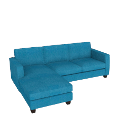 Portia LHF Chaise End Sofa, Teal