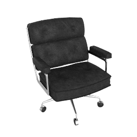 Eames Executive Chair - Vicenza Leather - Black