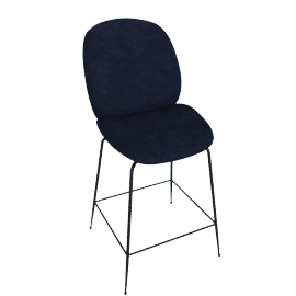 Beetle Counter Stool, Navy