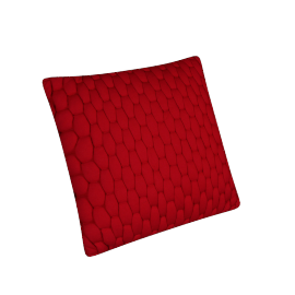 Stuart Filled Cushion - 45x45 cms, Red