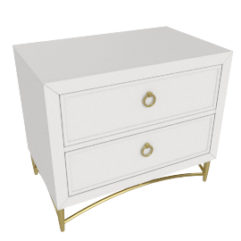Adele Night Stand-Ligth Cream-Gold
