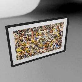 Jackson Pollock - Convergence Framed Print, 73 x 110cm
