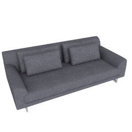Lecco 93'' Sofa, Pebble Weave - Pumice with Aluminum Base