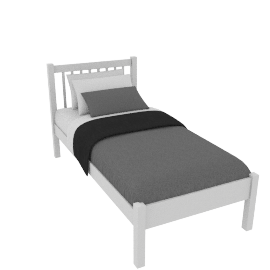 Wilton Bedstead Single, White