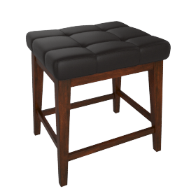 Delvin Stool -Brown