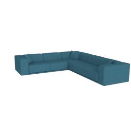 Kelston Corner Sectional Left-Facing, Linen Weave Fin