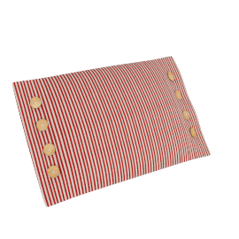 Sailor Stripe Cushion, Red