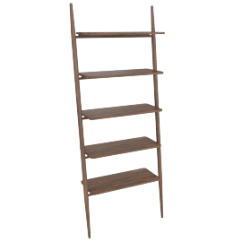 "Folk Ladder 32"" Shelving, Walnut"