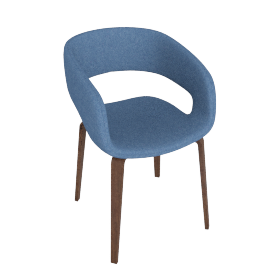 Pavlov Dining Chair, Blue