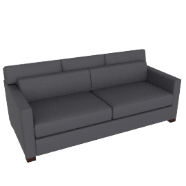 Vesper Queen Sleeper Sofa in Fabric , Slate grey