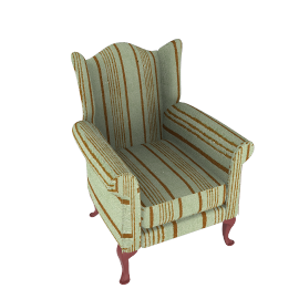 Oberon Armchair, Stripe
