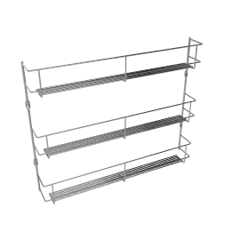 Chrome 3-Tier Spice Rack