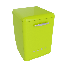 Smeg DF6FABVE Dishwasher, Lime Green