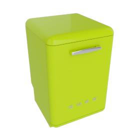 Smeg DF6FABVE Dishwasher, Lime Green