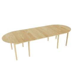 Gala Extension Table - Two Leaves, Oak