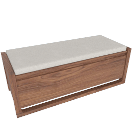 Matera Small Bench Cushion, Shell