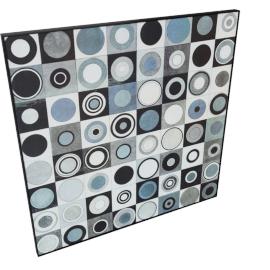 Carnaby Street Blue Painting - 80x2.5x80 cms