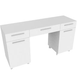 Next 3Drwr 2Dr Dresser -Hg Wht/Hg Pearl Grey