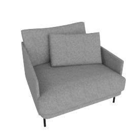 Camber Armchair Onyx Legs, Lama Tweed Heather