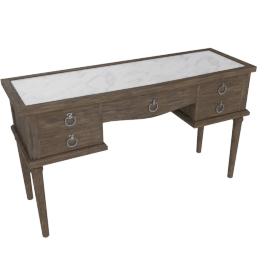 Lexington 5 Drwr Dressing Table-Dark Grey/White