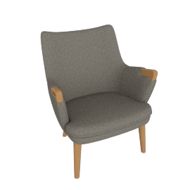 CH71 Lounge Chair, Graham with Oak