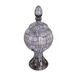 Rosa Mosaic Decorative Urn - 17x17x37.5 cms