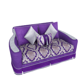 Newton 2 Seater, Purple and Grey