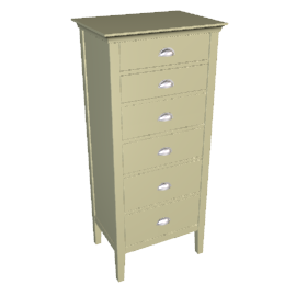 New England Tall 6 Drawer Chest