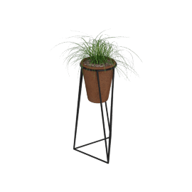 Jara Terracotta Planter with Stand, Large