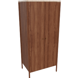 Morrison Armoire, Walnut with Crema Marfil