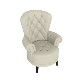 Liva Accent Chair, Beige