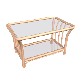 Lotus Coffee Table, Almond