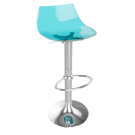 Led Bar Stool, Blue
