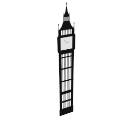 Big Ben Sticker Wall Clock