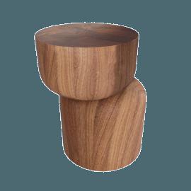Hew Side Table, Shape D, Walnut