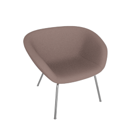 Pot Lounge Chair, Pink