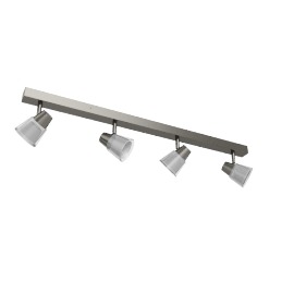 Cormack LED Spotlight Bar, 4 Spot, Nickel