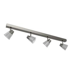 Cormack LED Spotlight Bar, 4 Spot, Nickel
