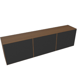 Forma Media Unit, Walnut/Graphite